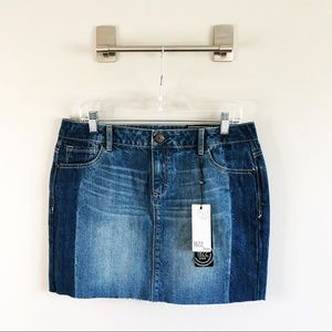 1822 DENIM | Two Tone Blue Denim Skirt